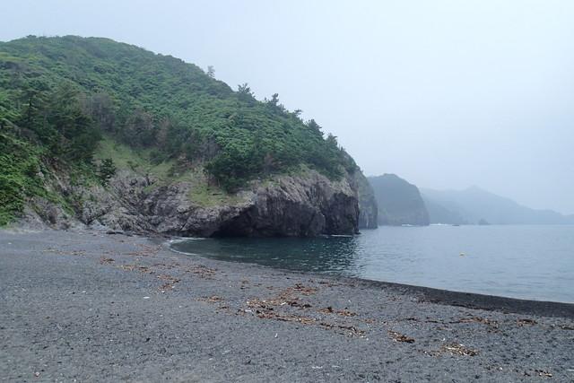 船越のビーチ