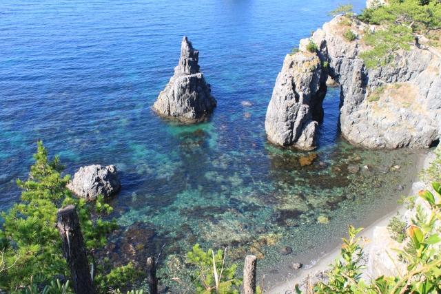 青海島の海