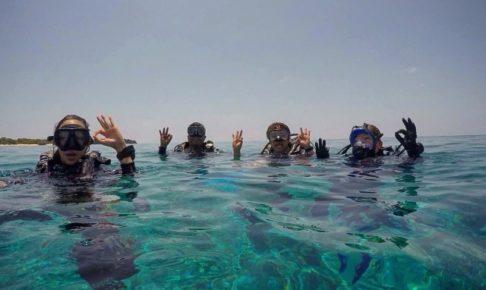バリ島でスキューバダイビング