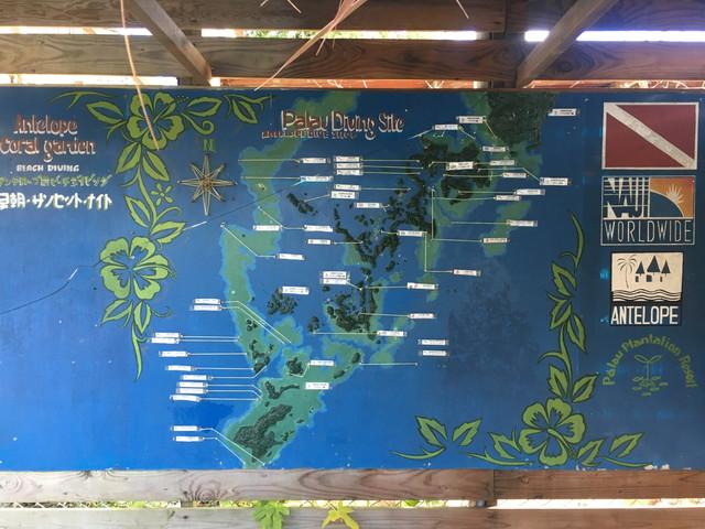 パラオの地図